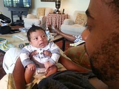 Fohawk! (tidal07) Tags: baby orlando newborn babyboy farmlife fohawk mixedbaby dadandbaby fakemohawk