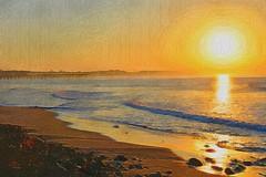 ocean california morning beach sunrise ventura