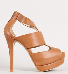 "strappy peep toe platform stilleo heel tan • <a style=""font-size:0.8em;"" href=""http://www.flickr.com/photos/64360322@N06/15559860402/"" target=""_blank"">View on Flickr</a>"