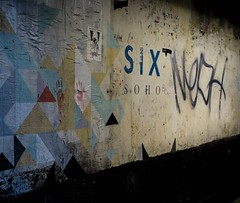 Six Soho, London (darrenshaunmann) Tags: colour london wall poster flyer hands soho six handprint