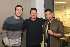 Nick Lachey returns to the Covino & Rich Show (covinoandrich) Tags: show life morning radio buzz satellite nick rich 98 soundtrack vh1 degrees lachey my siriusxm covino