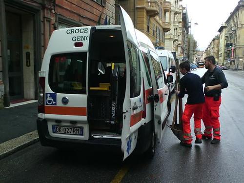 11 novembre: i volontari della Croce Bianca Genovese verso Chiavari