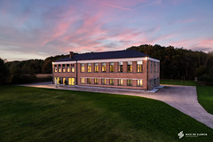 Residential home (nickdeclercq) Tags: sunset cloud house home architecture modern rural private evening design glow photographer exterior sundown belgium architectural restoration residence residential