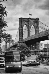 Brooklyn Bridge (diwan) Tags: city nyc newyorkcity bridge bw usa white ny newyork black america canon geotagged eos google place manhattan unitedstatesofamerica stadt brooklynbridge northamerica metropolitain brücke bigapple schwarz plugins 2010 lightroom downtownmanhattan weis vereinigtestaatenvonamerika canoneos450d silverefexpro2 nikcollection geo:lon=74000871 geo:lat=40710149
