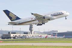 Singapore Airlines Airbus A380-841; 9V-SKK@ZRH;18.10.2014/766bg (Aero Icarus) Tags: plane aircraft flugzeug takeoff avion singaporeairlines zrh zrichkloten airbusa380 flughafenzrich 9vskk