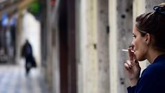 street of broken dreams (Sante sea) Tags: street shadow woman girl lisboa lisbon lisbona cigarettesigaretasmokesmokingportrait