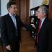 Mauricio Macri recibió en el Palacio Municipal al ex presidente y actual senador de Colombia, Álvaro Uribe