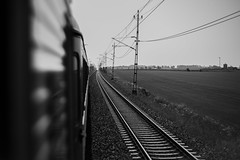 View from a train (victorbergstedt) Tags: beautiful canon countryside sweden traintracks tracks trains photograph markiii victorbergstedt