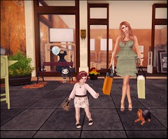 Shop Girls (Serena Snowfield) Tags: club shopping tram secondlife virtual friday kennel magika virtualkennelclub secondlifekids atooly rootswingsgallery lilbigme