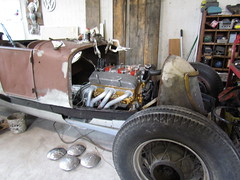 A 28 Ford Rat Rod project we are working on (xscabboyx) Tags: hot ford t bucket model rat antique engine chevy 350 rod 1928