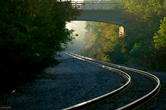 rhythm of the rails ~ Huron River and Watershed (j van cise photos) Tags: michigan traintracks rails intothelight huronriverwatershed afsnikkor70200mmf28gedvrii nikond7100 rhythmoftherails~willienelson