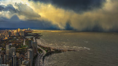 Halloween 2014, Chicago, IL (jnhPhoto) Tags: lake chicago storm weather clouds nikon cityscape wind stormy lakemichigan lakeshoredrive d800 jnhphoto