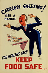 Health Poster 'Careless Sneezing""