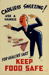 Health Poster 'Careless Sneezing