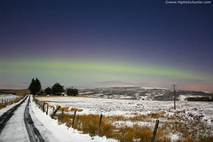 A Rare Spectacle For N. Ireland! (Nightskyhunter On Flickr) Tags: winter snow weather stars aurora nightsky northernlights auroraborealis nireland auror
