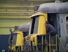 BREL Springburn (Dave S Campbell) Tags: blue train glasgow railway works emu 303 springburn brel
