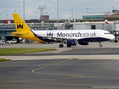 Monarch A320 G-OZBX taxiing at MAN/EGCC (AviationEagle32) Tags: uk man manchester flying airport unitedkingdom aircraft aviation airplanes flight apron monarch planes airbus mon zb departure avp aeroplanes a320 manchesterairport taxiing ringway planespotting airbus320 egcc cfm monarchairlines aviationphotography a322 flymonarch manchesteravp gozbx flickraviation manchesterairportt1 manchesterairportatc