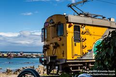 Train passing Cape to Cuba in Kalk Bay