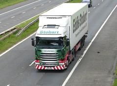 H2203 - PO15 UEN (Cammies Transport Photography) Tags: truck lorry m8 eddie flyover maizie scania esl jordanna harthill stobart uen eddiestobart r450 po15 h2203 po15uen