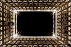 Looking Up (Tobias Neubert Photography) Tags: hamburg deutschland symmetrie symmetry nacht night lichter lights strukturen structures linien lines architektur architecture