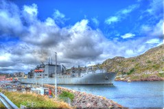 USNS Robert E. Peary enters the Narrows (Ross A Craig) Tags: stjohnsnewfoundland canadian navy united states hmcs fredericton athabaskan signal hill