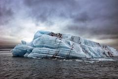 Iceberg in the Jkulsrln lagoon (marko.erman) Tags: iceland islande glacier iceberg ice black sand beach ocean sea landscape lagoon atlantic panorama beautiful nature serenity calm outside jkulsrln sony
