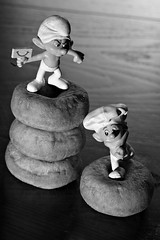 The Secret Lives of Toys (Cindy's Here) Tags: thesecretlivesoftoys smurfs bw canon 116 14 6365