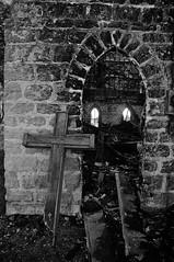 Fire & Brimstone (Hoist!Man) Tags: eleroyil church historic fire damage burned unitedbrethrenchurch pentax burnedchurch