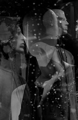 113 (eirelgeuse) Tags: bw blackandwhite mannequins identity overlay abstract glitch