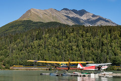 Moose Pass (sullivan1985) Tags: alaska alaskarailroad ak train railroad railway moosepass seaplane southbound passenger passengertrain airporttrain emd gp402 sd70mac arr3015 arr4328 uppertraillake
