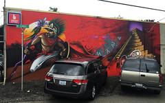Rise of the Mayan by Ashley Montague (wiredforlego) Tags: graffiti mural streetart urbanart portland oregon pdx ashleymontague