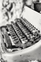 Typewriter. (CyberDEL1) Tags: macedonian macedoniatimeless macedonia macedoniagreece greece hellas typewriter blackandwhite samsungnx1 samsungnx1650228s