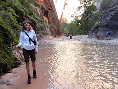 2016-09-p02-narrows-mjl-008 (Mike Legeros) Tags: ut utah zion zionnationalpark narrows river slotcanyon swiftwater wetfeet watchyourstep