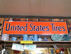 United States Tires (Patricia Henschen) Tags: chalkcreek nathrop colorado stelmo canyon mountain rural ghosttown miningruins miningheritage gold autumn leafpeeping fall fallcolor aspen vintage sign metal unitedstatestires highcountry sanisabelnationalforest