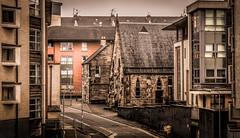 Partick Bridge Street (Gordon McCallum) Tags: partick partickbridgestreet stsimonscatholicchurch glasgow glasgowswestend streetscene scotland sony sonya6000