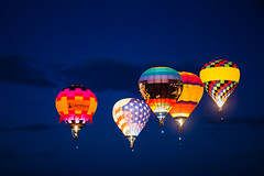 Dawn Patrol 2 (tltichy) Tags: albuquerque america balloon balloons blue dawn desert festival fiesta floating flying glow hotairballoons international newmexico orange outdoors patrol southwest usa
