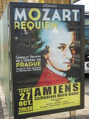 MOZART... bientt  Amiens (xavnco2) Tags: somme picardie france abribus affiche poster billboard busstop mozart requiem concert publicit advertising werbung