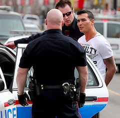 Hot arrested male (Hunk Arrest) Tags: event journalist media news reportage canada canadian editorial ab