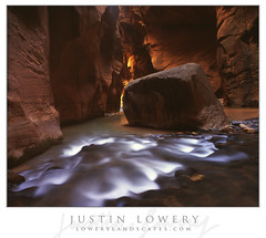 Out of Darkness II (Justin Lowery) Tags: largeformat viewcamera fieldcamera film analog velvia zionnationalpark zion narrows intrepidcameraco 4x5