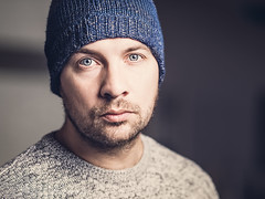 cold days (klausi1983) Tags: cold winter light people model boy man fashion cap eyes 135mm canon