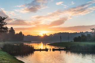 Sunrise at Tervuren park