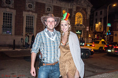 Cowboy and Indian (ViewFromTheStreet) Tags: allrightsreserved blick blickcalle blickcallevfts calle candid chestnutstreet copyright2016 cowboyandindian halloween indian oldcity pennsylvania philadelphia photography stphotographia streetphotography viewfromthestreet amazing bandana classic costume couple cowboy cowboyhat feather female fun girl gun guy handsome holster male man party ponytails pretty smile smiling street vftsviewfromthestreet woman blickcallevfts copyright2016blickcalle night flash flashphoto flashphotography