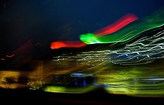 environmental abstract ~grin~ (muffett68 ) Tags: icm blur abstractreality foxtv satellitedishes ansh scavenger2 rooftops