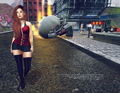 I don't care... (ds (SL blogger)) Tags: entwined gasclothing blueberry realevilindustries reign albdreamfashion pekka itdoll sl secondlife avatar cute doll red fire care girl woman fafino beauty redhead street city