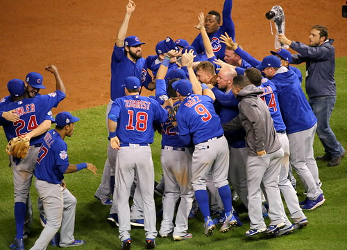 The Cubs celebrate after winning the 201 by apardavila, on Flickr