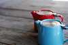 Teapot (Prime E) Tags: still life color red blue tea contrast cafe
