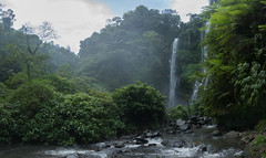 Jungle Waterfall (ben_leash) Tags: blue jungle sony a77 bali indonesia sekumpul waterfall falls tropical misty mist grotto serene serenity