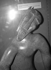 IMG_9508 (Mat_B) Tags: kenosha wisconsin museum day trip 2016 fun native american art public black white statue carving face man