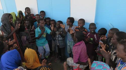 Djibouti_2015 - Devant l'école de Mouddo