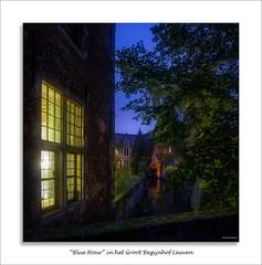"""""""Blue Hour"""" in het Groot Begijnhof Leuven (David Jonck) Tags: grootbegijnhof 24mm d750 bluehour night avond kuleuven tiltshift city dijle leuven evening davidjonck light"""